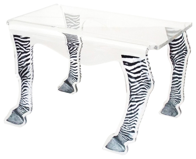 Coffee Table, Zebra Legs, Medium Eclectic Side Tables And End
