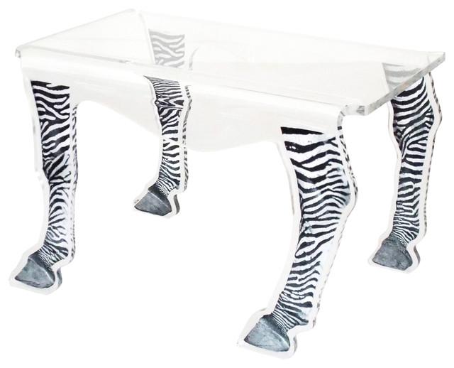 Bon Coffee Table, Zebra Legs, Medium