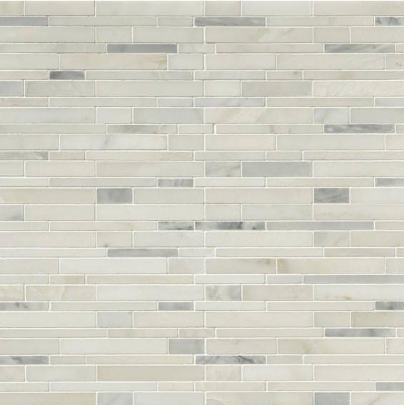 12 X12 Greecian White Interlocking Pattern Polished Mosaic Set Of 10
