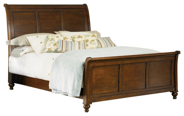 Sleigh Bed, King.