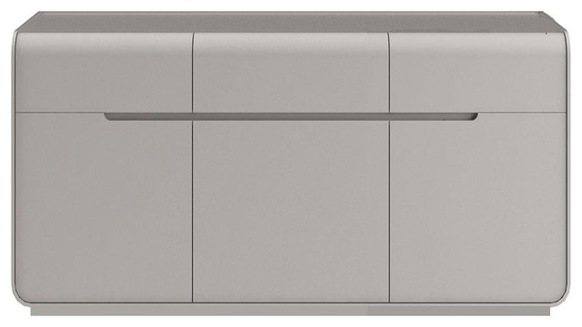 Senses Wooden Sideboard, Stone, Small