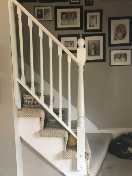 EXAMPLE - Small Removable Stair Railing