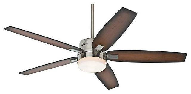 hunter prestige ceiling fan 59039 windemere 54 ceiling fan in brushed nickel transitional ceiling ceiling fan