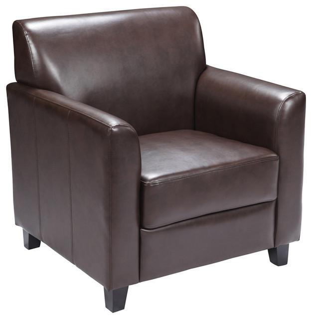 Hercules Diplomat Series Brown Leather Chair BT-827-1-BN-GG