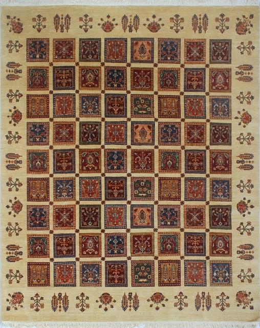 Khurgeen Parwin Ivory/red Rug, 7&x27;10 X 9&x27;9.