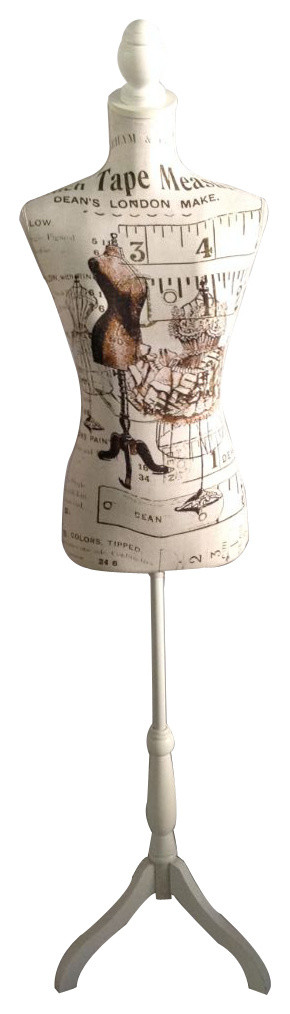 Vintage Print Style Mannequin by Urban Port