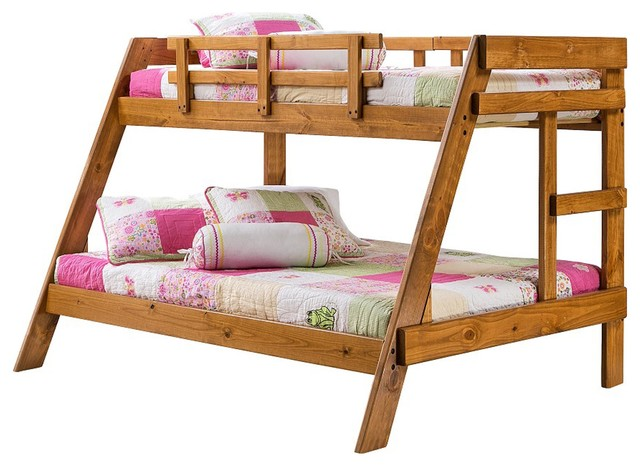 Heartland Twin Over Full Wooden Bunkbed Pine Finish