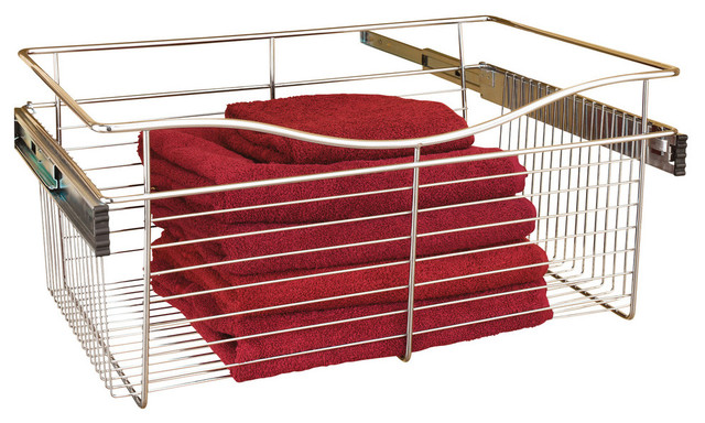 Pullout Wire Basket 24 X14 X7 Contemporary Closet Organizers By J Keats