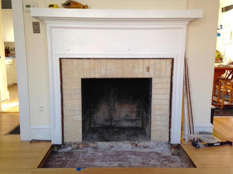 American Four Square Remodel, Shorewood, WI, Fireplace