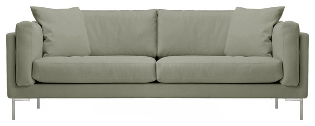 Affordable berlin modern down sofa in cream linen dove with design sofas berlin