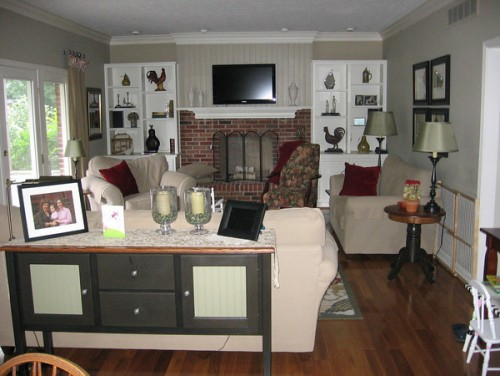 Furniture arrangement in our family room