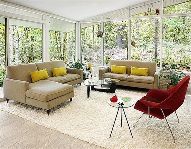Eero Saarinen Style Womb Chair And Ottoman In Merlot By Rove - Rove concepts saarinen table