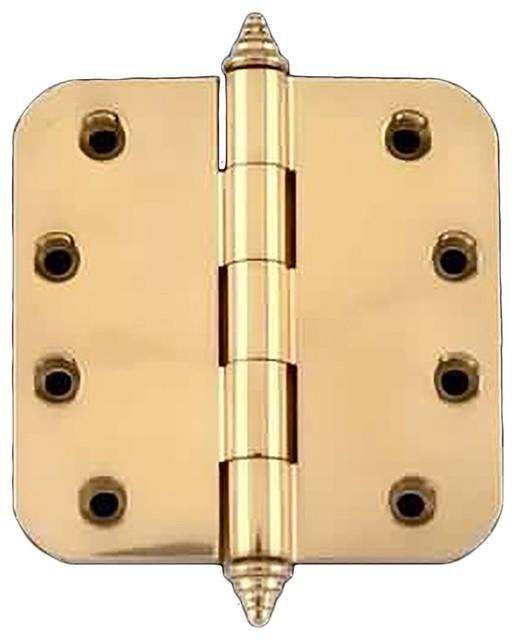 Solid Brass Door Or Cabinet Hinge Radius Decor Tip 4 ...