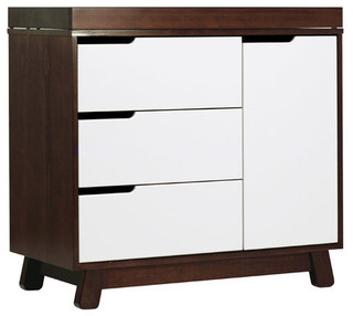 Modern Brown 3 Drawer Changing Table - Transitional - Changing Tables - by Clever and Modern