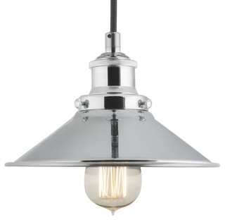 Linea di Liara - Andante Industrial Factory Pendant, Polished Chrome -  Pendant Lighting