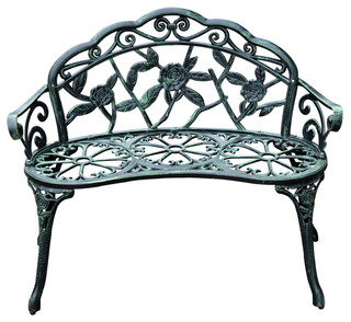 Outsunny 40 Quot Cast Iron Antique Rose Style Outdoor Patio