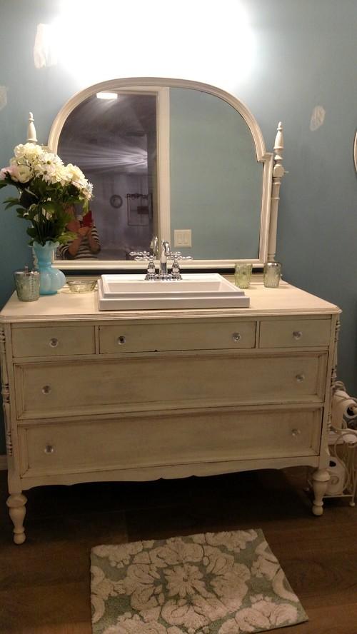 Wanted Yo Share My Dresser Turned Into Bathroom Vanity