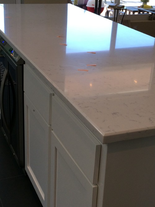 Cashmere Carrara Quartz counter issues