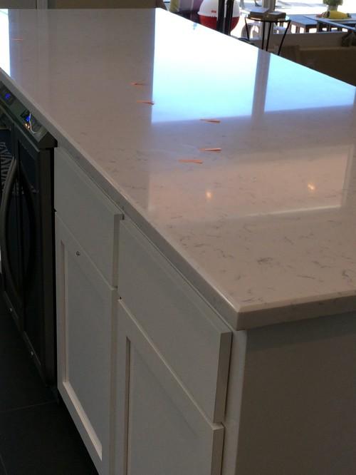 Super Cashmere Carrara Quartz counter issues IG23
