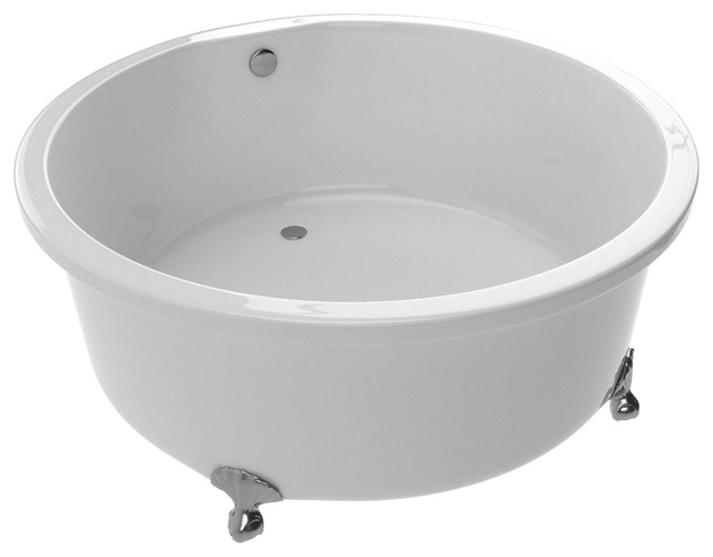 Anzzi Cantor Series 4.9 Ft. Acrylic Clawfoot Bathtub In White.
