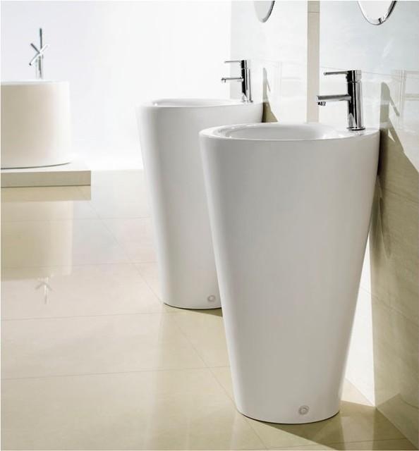 Modern Bathroom Pedestal SinkFerrara