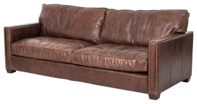 """Four Hands Larkin 88"""" Sofa, Cigar."""