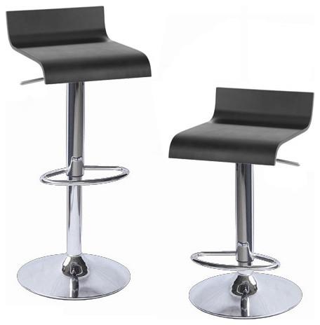 Sigma Wooden Adjustable Bar Stools Set of 4 Blackwood contemporary-bar- stools  sc 1 st  Houzz & Sigma Wooden Adjustable Bar Stools Set of 4 - Contemporary - Bar ... islam-shia.org