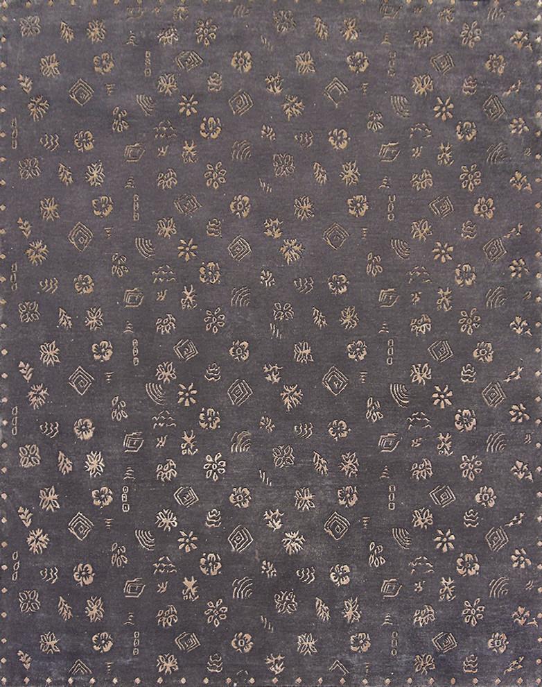 Gray Wool Silk 13050 810 Rug 8x10