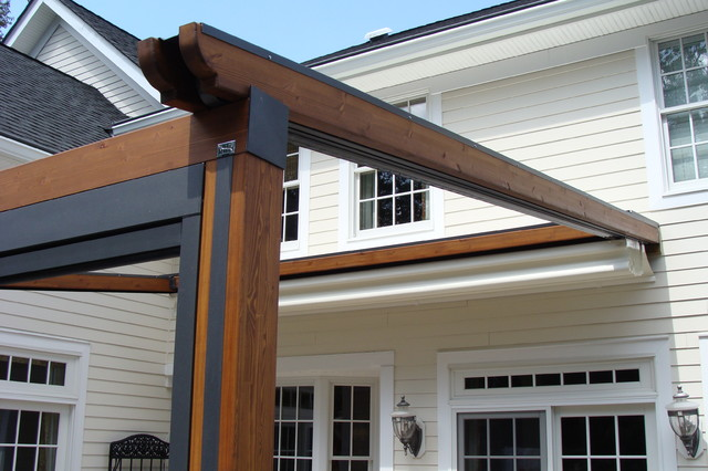 Private Residence, Northern NJ - Retractable Pergola Awning classique - Private Residence, Northern NJ - Retractable Pergola Awning