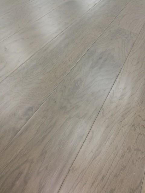 "5""x47.24"" Engineered Hardwood Flooring Handscraped Hickory, Set Of 12, Smokehous."