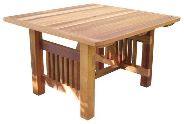 Rectangle Red Cedar Patio Table, Unstained - Wood Country Cabbage Hill 5' Rectangle Red Cedar Patio Table