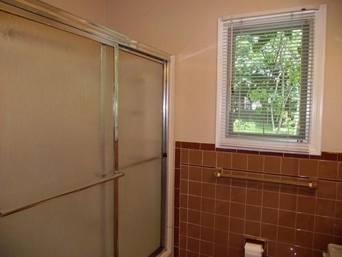 Brown Tile Bathroom Update Suggestions - Updating bathroom tile