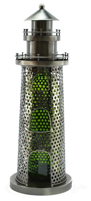 Light House Metal Wine Bottle Holder.