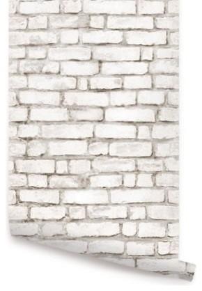 Brick Peel And Stick Wallpaper White 1 Sheet
