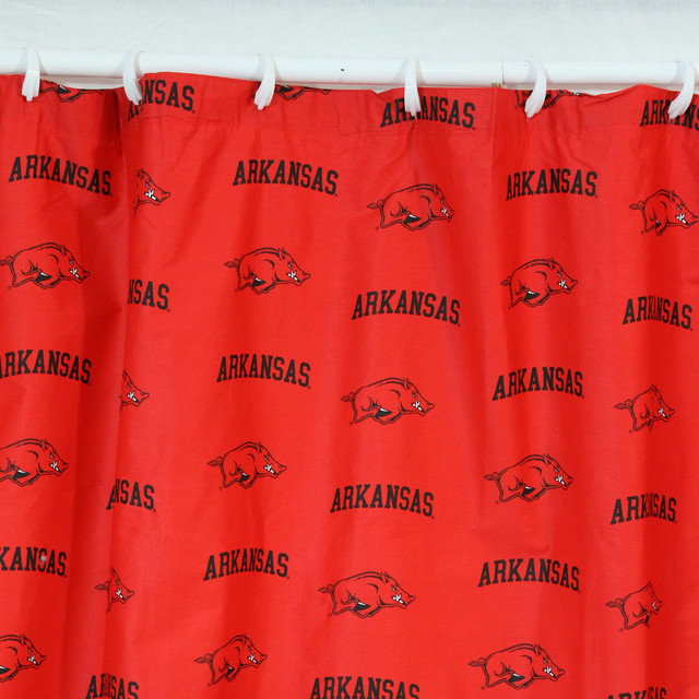 Arkansas Razorbacks Printed Shower Curtain Cover 70 X 72
