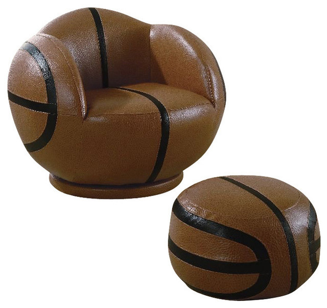 Shop Houzz Coaster Fine Furniture Coaster Small Kids Basketball Chair And Ottoman Furniture