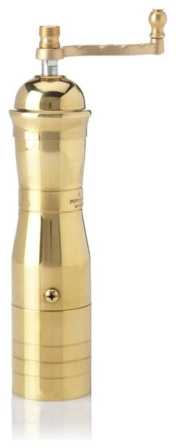 Greek Atlas Athena Brass Pepper Mill With Cup