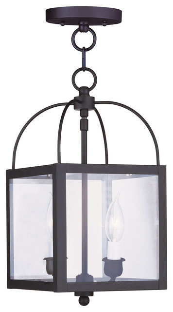 Milford 2-Light Black Convertible Chain Hang/ceiling Mount.