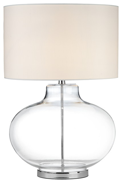 Lovely Rhonda Table Lamp, Clear Transitional Table Lamps