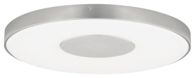 Tech Lighting Wynter Led Large Round Flush Mount, Satin Nickel, 120v.