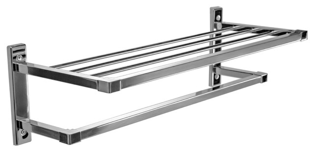 Primo Stainless Steel Towel Shelf With Single Bar