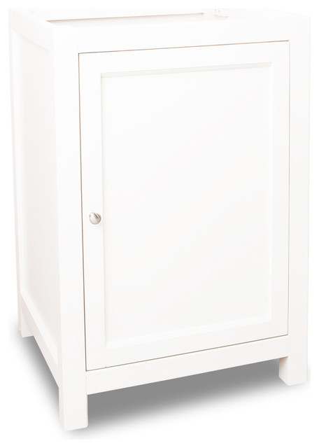 Amara Single Vanity, White, Without Top.