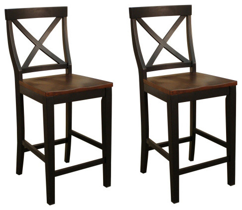 American Heritage Camden X Back Counter Height Dining Chair (Set Of 2)  Traditional