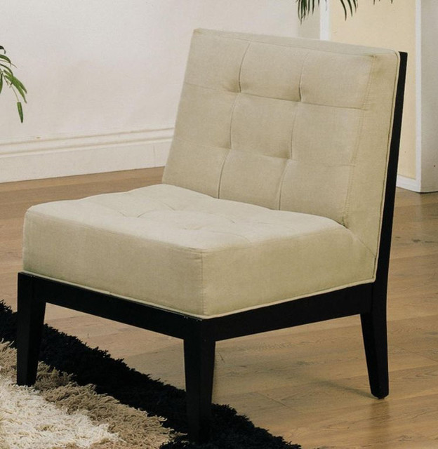 fabric armless accent chair contemporary living room