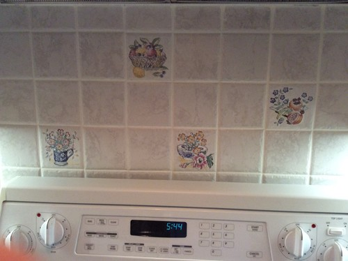 Painting backsplash as temporary fix