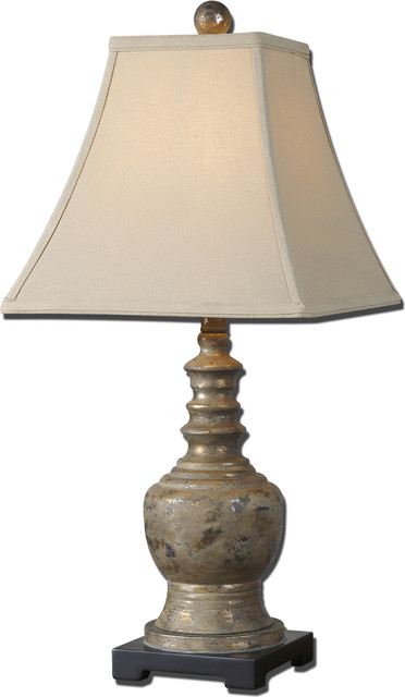 Valtellina Taupe Gray Buffet Lamp, Gray.