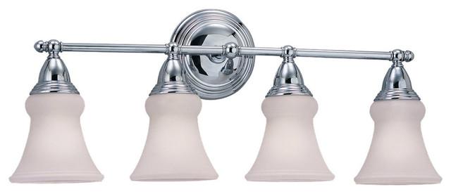 Seagull Sagemore 4-Light Bathroom Lighting Fixture, Chrome