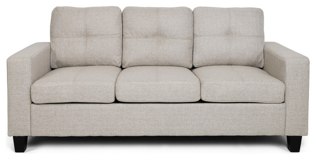 Three Seater Sofa With Wood Legs