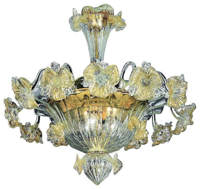 Tiepolo Murano Glass Ceiling Light.