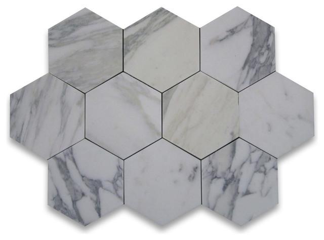 6 X6 Calacatta Gold Hexagon